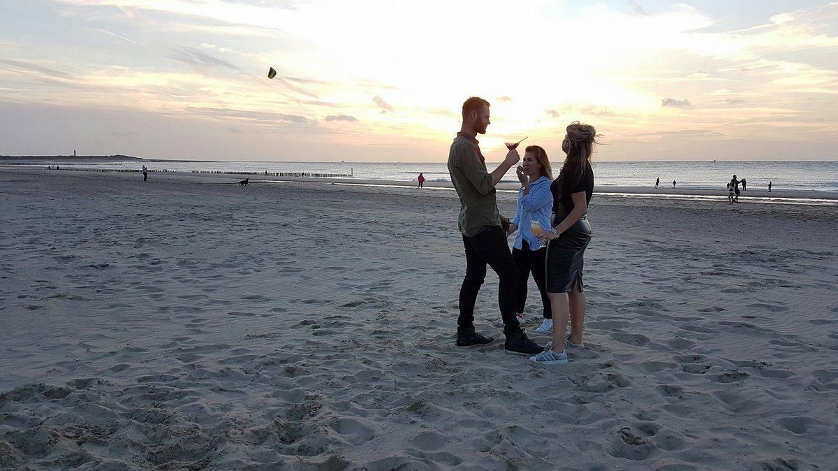 strand-zonsondergang-Nieuwvliet