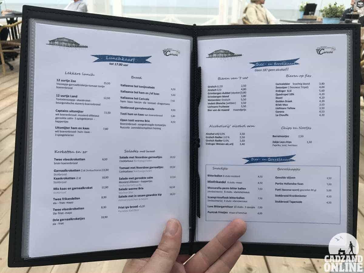 Lunchkaart-Caricole