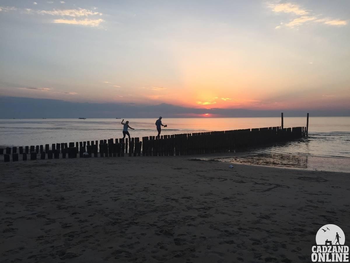 Zonsondergang-zee-Cadzand