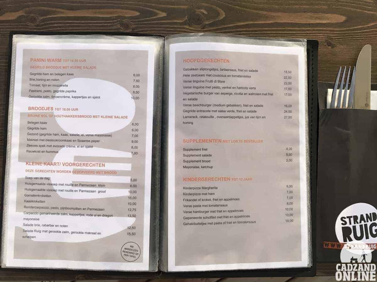 Menukaart-restaurant-Ruig
